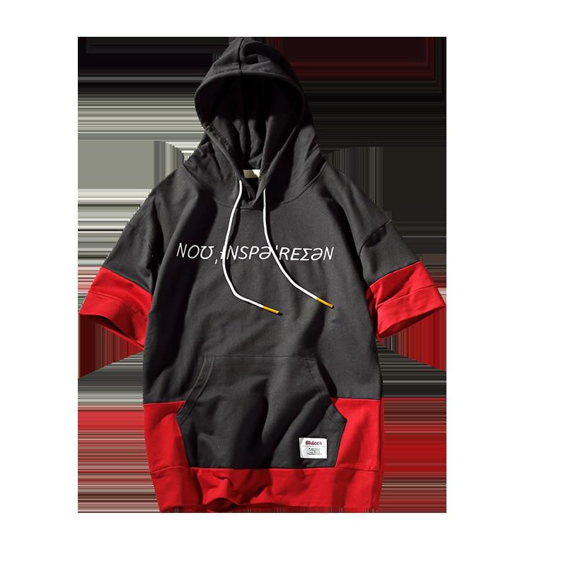 2018 The new listing Summer Wear Short Sleeve Fashion Male sweatshirts men hoodies anti social club streetwear tracksuit
