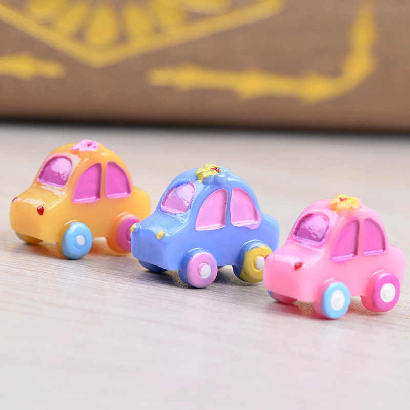 Car Taxi Automobile Auto Small Statue Mini Figurine Crafts Ornament Miniatures Children Play House DIY Toy Decor Canada Spain