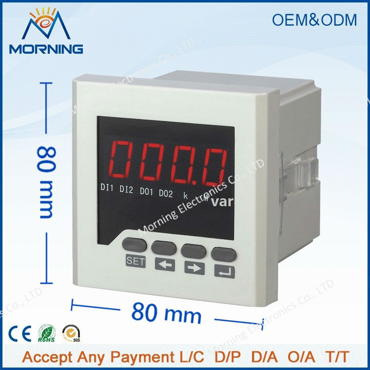 ФОТО Q61 panel size 72*72 low price led single-phase power tool digital power meter, for distribution box