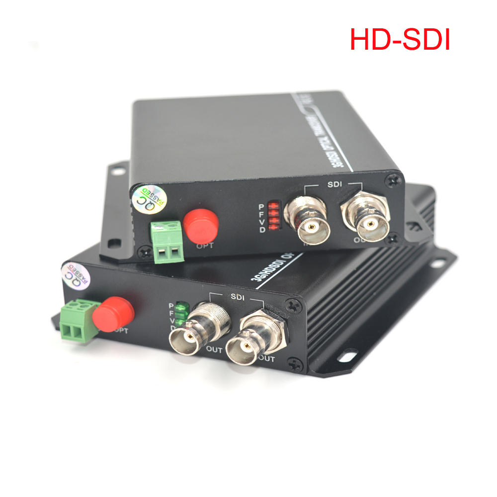 HD-SDI Video Audio Fiber optic Media converters Transmitter and Recevier with RS-485 data for SDI cameras CCTV