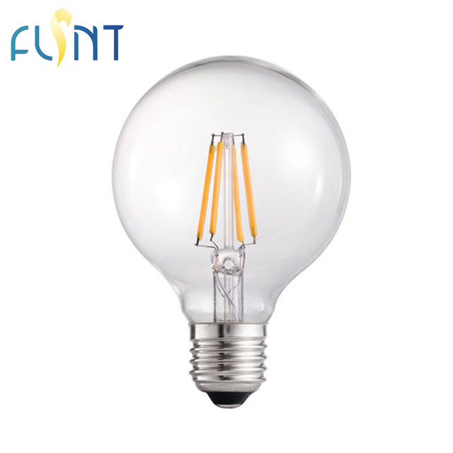 US $1 0 |G80/G25 dimmable E26 E27 LED bulb 4 5W 8W 120V Retro 360 degree  Clear Frost glass led filament lamp light free shipping-in LED Bulbs &  Tubes