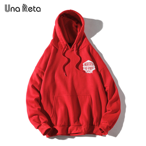 Image 4 - Una Reta Streetwear גברים נים חדש סתיו הדפסת סווטשירט בתוספת גודל כותנה בסוודרים אימונית היפ הופ גברים/נשים הסווטשרט