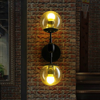 Magic Modo 2 heads Wall Lamps for Restaurant Parlor Hotel Metal Iron Glass Vintage DNA Led e27 Wall Light