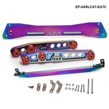 Carro de corrida jdm neochrome subframe traseiro cinta + barra de gravata + braço de controle inferior para honda civic eg 92-95 EP-ASRLCAT-EG7C