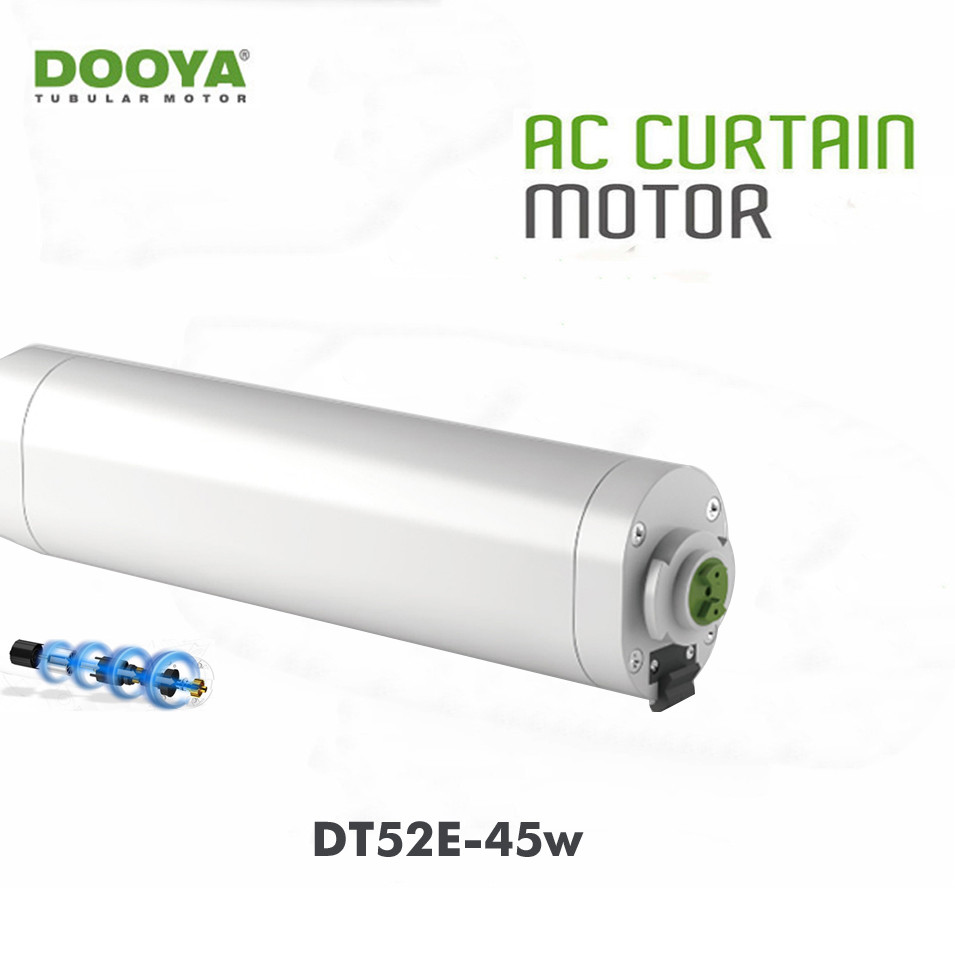 Dooya DT52E Electric Curtain Motor 220V 45W,Open Closing Window Curtain Track Motor,Home Automatic Curtain Motor for Project ewelink dooya electric curtain system curtain motor dt52e 45w remote control motorized aluminium curtain rail tracks 1m 6m