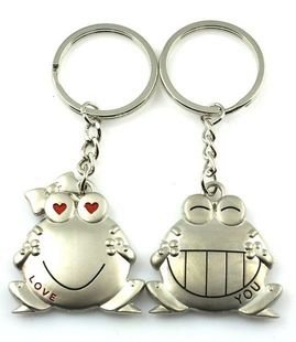 300 Pairs600pcs Lot Wedding Favors Frog Keychain With Your Logo In Opp Bag Gift For Christmas