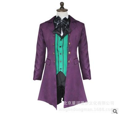 Black Butler Cosplay Costume Season 2 Earl Alois Trancy cosplay party anime Clothes Dress Set Full Set 5/lot image