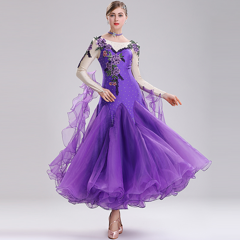 New ballroom waltz modern dance dress ballroom dance competition dresses standard ballroom dancing clothes tango dress MQ289
