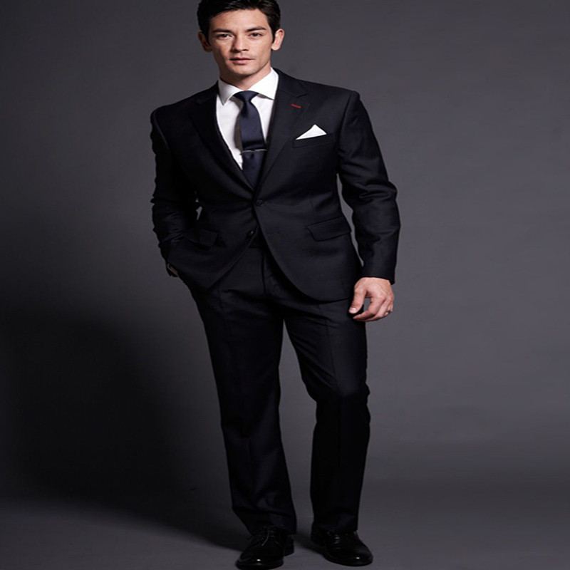 2017 fashion Black jaclet  ttwo piecesfor formal business negotiation