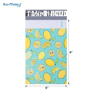 Image 2 - 100pcs 15x23cm 6x9 pollici lemon frutta modello Poli Guarnizione di Auto di Plastica Della Busta Borse