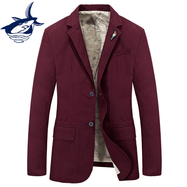 Tace & Shark brand casual blazer men Spring Autumn mens blazer jacket elegant cotton suit jacket blazer masculino slim fit