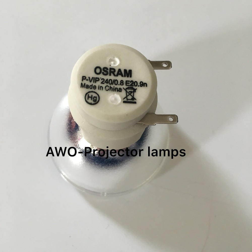 Replacement Projector Bare Lamp Bulb 5J.J6P05.001 Osram P-VIP240/0.8 E20.9N  For BenQ MW721 Projector new replacement bare bulb lamp for osram p vip 230 0 8 e20 8 p vip 240 0 8 e20 8 p vip 200 0 8 e20 8 for benq projectors