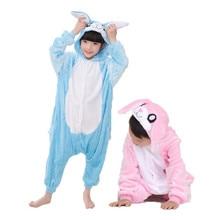 Children Pajamas Winter Rabbit Pajama Cartoon Animal Pyjamas Flannel Hooded Nightgown Onesie Kids Boys Girls Blanket Sleepers