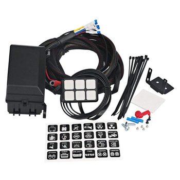 6 Gang Switch Panel Elektronische Relais Systeem Circuit Control Box Waterdichte Zekering Relais Doos Kabelboom Assemblies Voor Auto Au