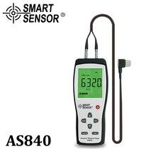 Digital Ultrasonic Thickness Gauge Sound Velocity Meter Metal Depth tester 1.2-225mm Smart Sensor AS840 with LCD display