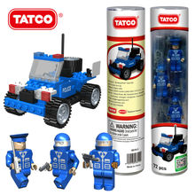 TATCO DIY City Series Police Patrol Jeep Car Building Blocks Model Educational Assembled Bricks For Boys & Girls Toy  Best Gift