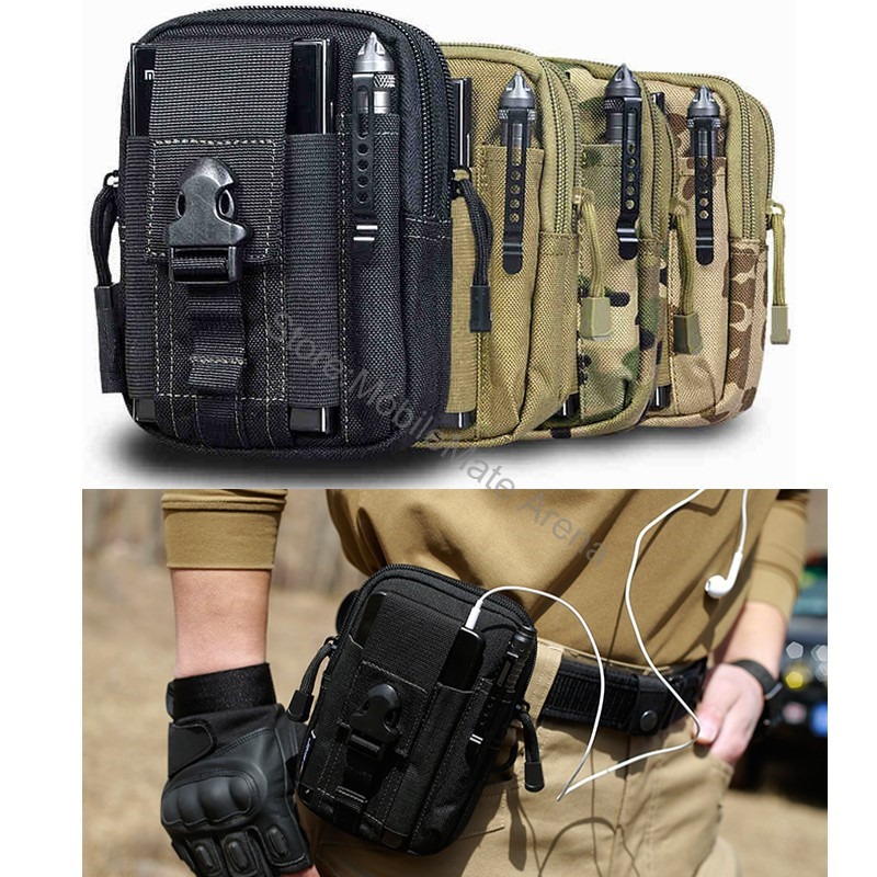 For samsung galaxy note 8 s8 s7/iphone x 8 plus 7/huawei mate 10 p8 p9 p10 lite case bag Mobile Phone Military Belt Pouch cover(China)