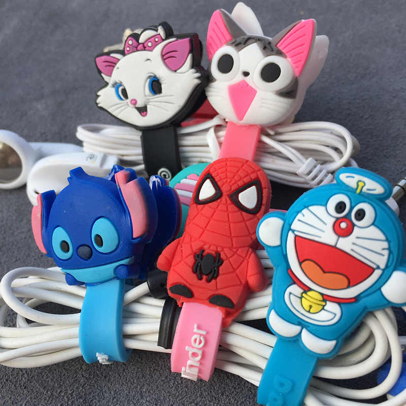 الكرتون منظم الكابلات بكرة اللفاف حامي سلك الحبل إدارة ماركر حامل غطاء لسماعة فون Sansung MP3 USB