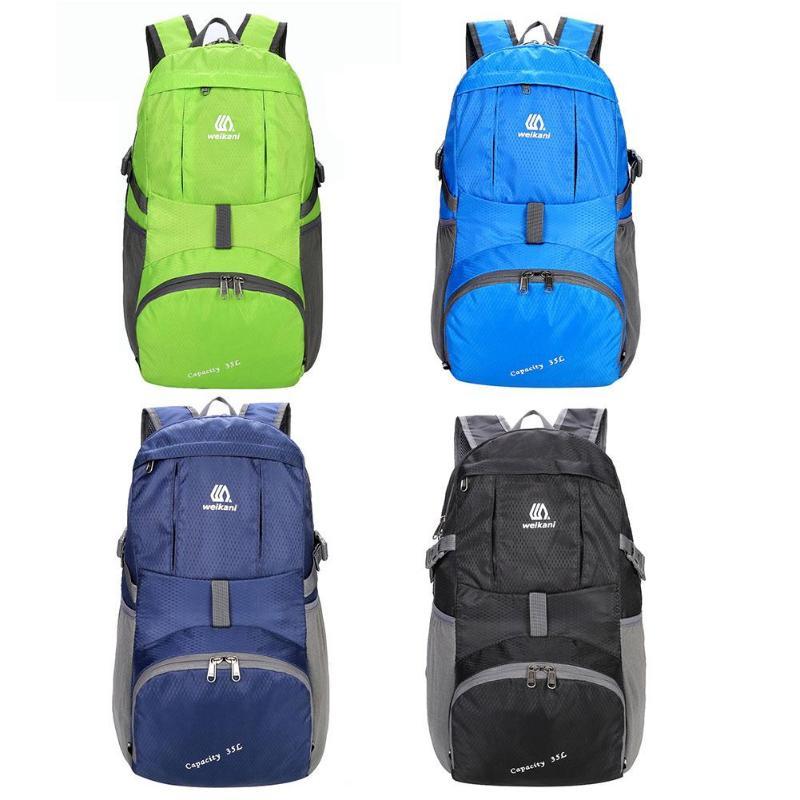 35L Outdoor Sports Travel Camping Backpacks Portable Lightweight Rucksack Unisex Waterproof Folding Knapsack