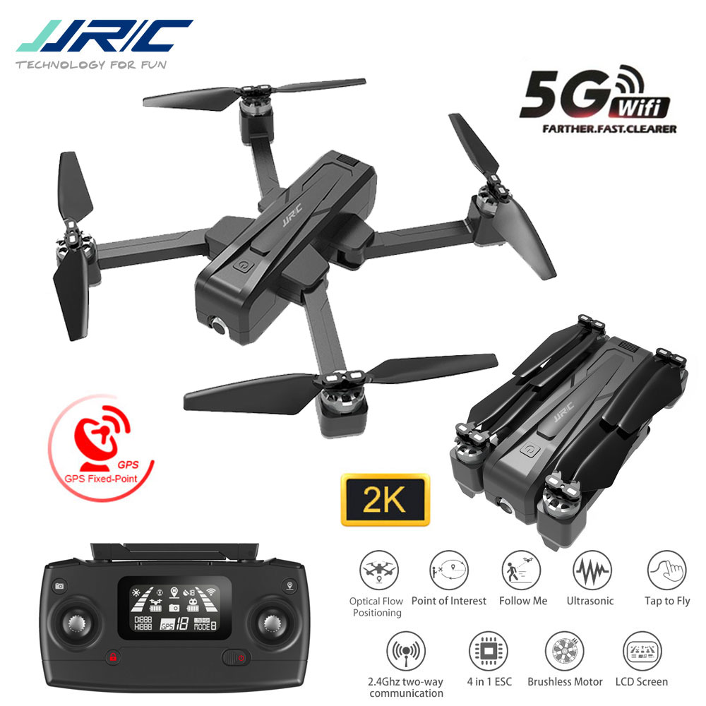 <font><b>JJRC</b></font> <font><b>X11</b></font> Professional GPS RC <font><b>Drone</b></font> With 5G WiFi FPV 2K HD Camera GPS Location Tracking 20mins Flight Time RC <font><b>Drone</b></font> Helicopters image
