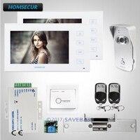 HOMSECUR DIY Системы 7 проводной видео и аудио дома, домофон с выдающимися видео и аудио производительность + удар замок