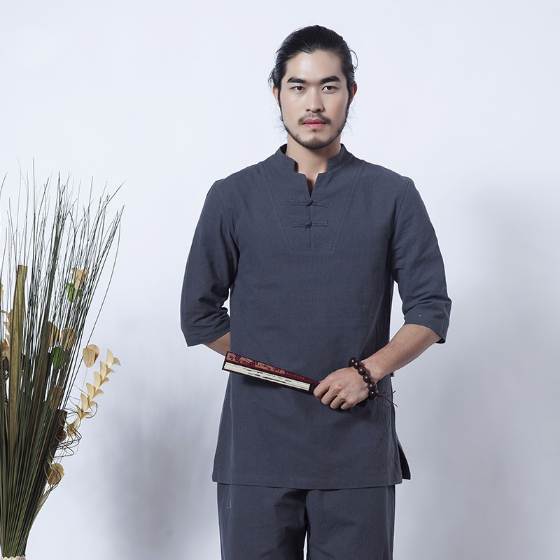 Chinois hommes linge Kung Fu costume traditionnel mâle Wu Shu ensembles Tai Chi uniforme vêtements Yoga costume traditionnel chinois vêtements