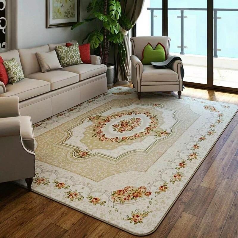 DropShip Luxuy Europe Jacquard Carpets For Living Room Home Decoration Non-slip Tatami Floor Mats Area Rugs Bedroom Tapis Salon