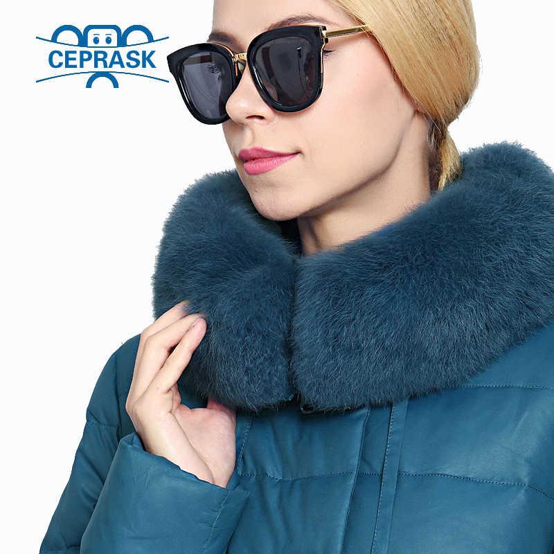 2019 Nieuwe Winter Jas Vrouwen Echt Bont Plus Size Lange Hoodie Warm Winter Coat Womens Biologische-Down Vrouwelijke Parka 6XL CEPRASK