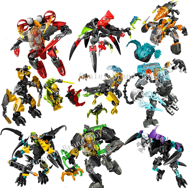 New Star Warrior Soldiers EVO Model Building Kits Compatible With Hero Factory 6.0 Series Daniel Rocka Blocks Building Gift Toys