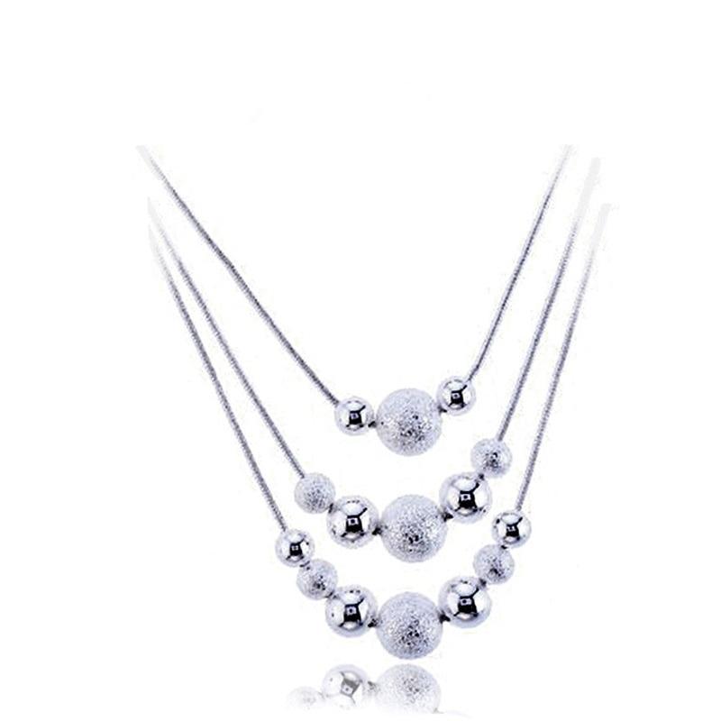 Bijoux 3 Layer beads Necklaces & Pendants Link Chain
