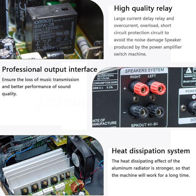 bluetooth 2.0 Channel 2000W Audio Power HiFi Amplifier  5