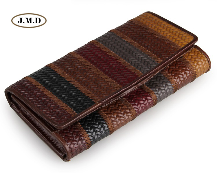 J.M.D New Style Hot Selling Genuine Leather Lady's Wallet Clutch Bag Fashion Style Purse Money Holder Card Holder 8094-1C/2C/3C
