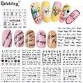 Rolabling Carta Diseño etiquetas engomadas del clavo 3d de las mujeres adhesivas nail minion pegatinas de uñas decoraciones barato pegatinas para las uñas