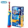 Crianças escova de Dentes Elétrica Oral B D10/EB10 escova cabeças Substituíveis escova de Dentes Recarregável Música Temporizador para Crianças Com Idades Entre 3 +