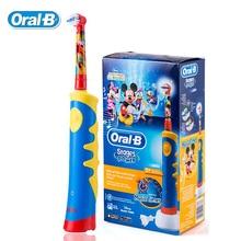 Oral B D10 Дети Электрическая Зубная Щетка/EB10 Сменные насадки-щетки Аккумуляторная Зубная щетка Музыка Таймер для Детей в Возрасте От 3 +