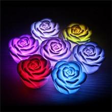 Fashion LED Night Lamp Romantic Rose Flower Light Color Changed Decoration LEDs Bulbs Nightlights Interior Design