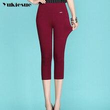 High waist women pants capri 2018 winter warm fleece office work pencil pants plus size ladies formal trousers pantalon femme