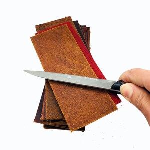 Image 3 - קידום עור השחזה Strops מטורף סוס עור פרה 1 2mm עובי תער סכין להב ליטוש השחזה
