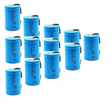 12PCS 4/5 SC battery High quality rechargeable sub c 4/5SC  replacement 1.2v with tab 3000 mah