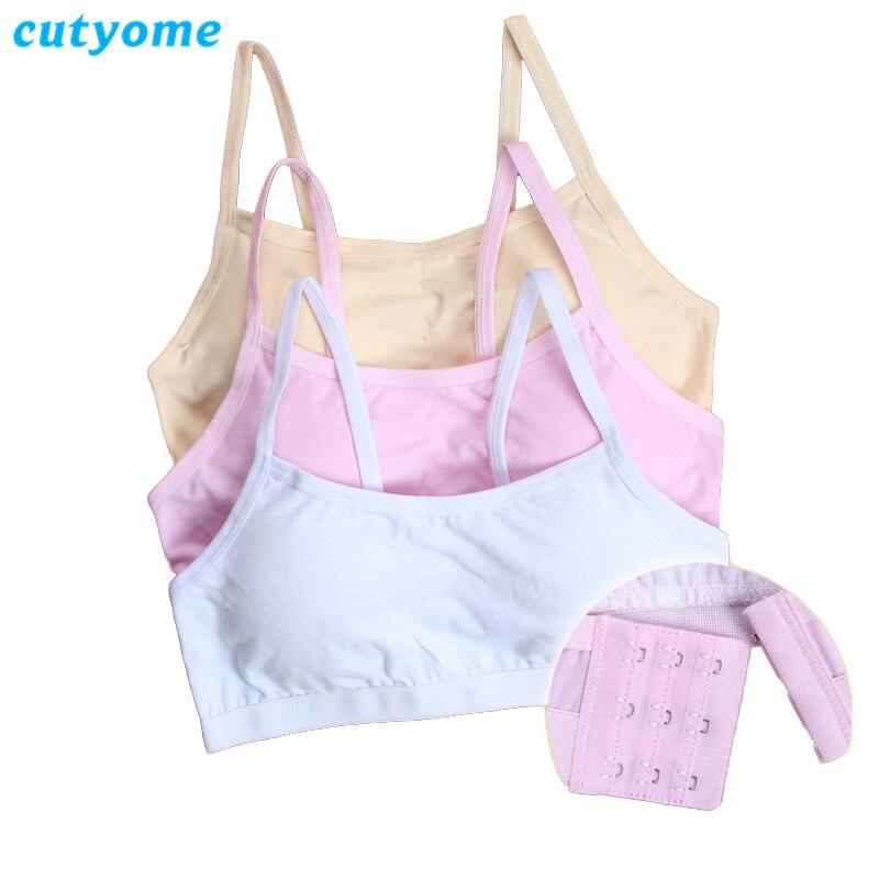 5pcs/lot Cutyome Puberty Young Girls Sport Bra Kids Padded Underwear Bras Teenage Wire Free Undergarment Children Undies Clothes
