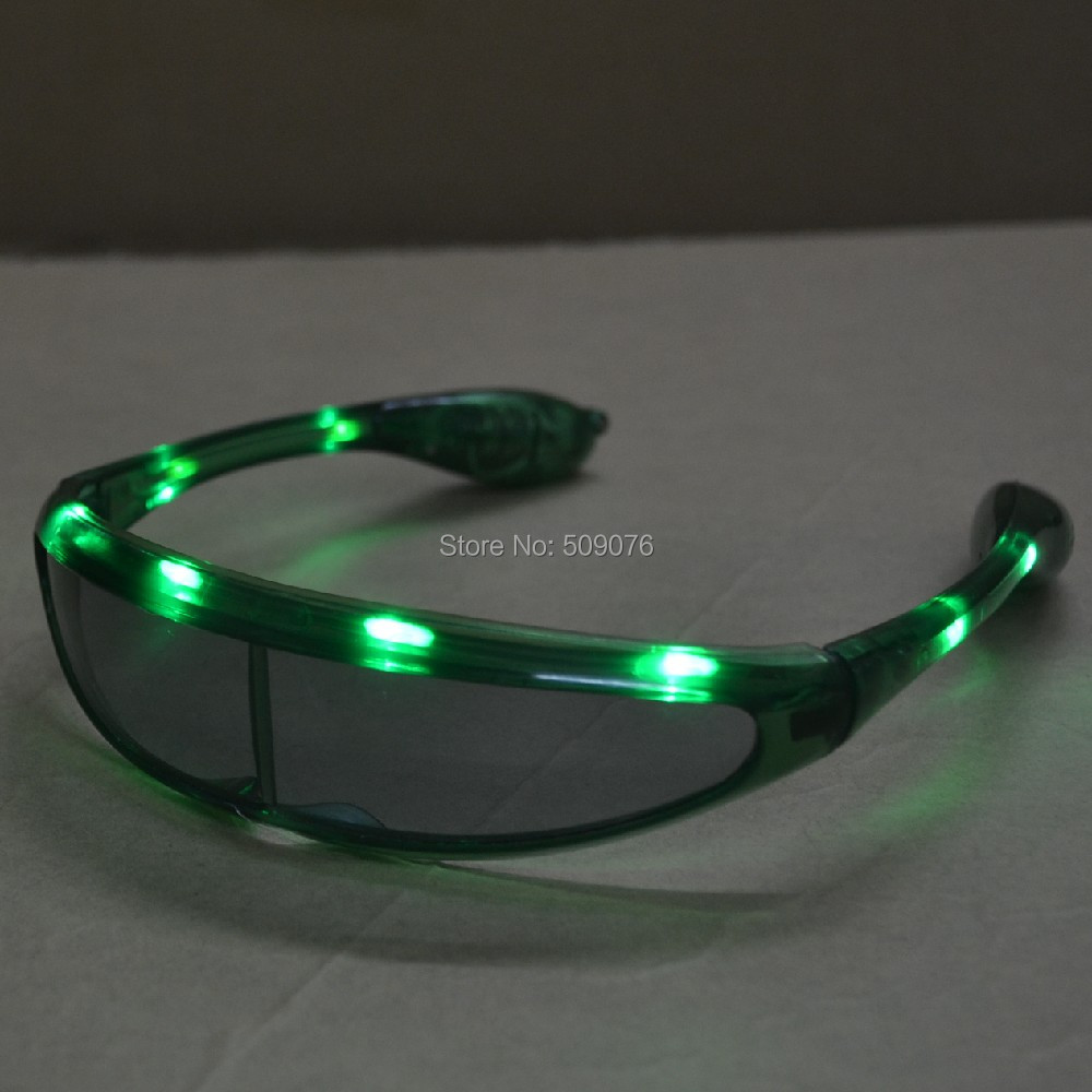 17bc43551e Free shipping 120pcs lot transparent LED Flashing Light Up Eyeglasses space  glasses party mask for Party Supplies-in Glow Party Supplies from Home    Garden ...
