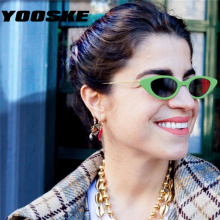 YOOSKE, женские, s, маленькие, кошачий глаз, солнцезащитные очки для женщин, классические, брендовые, дизайнерские, Овальные, металлические ноги, кошачьи глаза, солнцезащитные очки, женские, мужские, оттенки