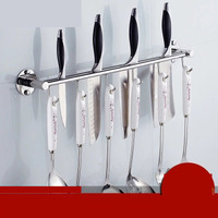 Free punching 304 stainless steel knife holder kitchen rack kitchen supplies hook kitchen storage shelf wall hanging