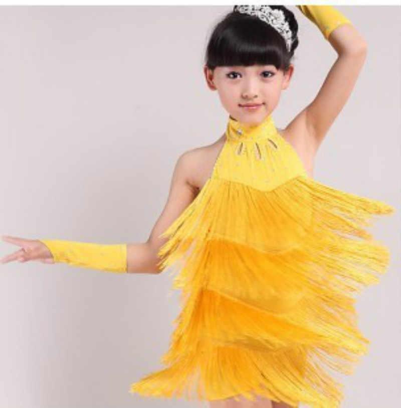 09f197891b226 Modern Girl Latin Dance Dress For Girls Cha Cha Dress Ballroom Dancing  Dress Girl Competition Dancewear Kids Kid Dance Costumes