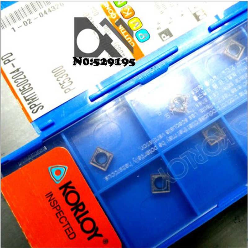SPMT050204 PD PC5300 original korloy insert cutting inserts use for turning tool holder SPMT040204 PD PC5300