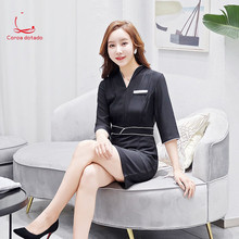 2019 new beautician spring reception professional slim comfortable beauty clothes