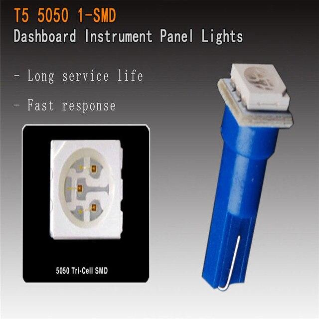 LaLeyenda 10PCS 24V 12V T5 led 17 37 73 74 SMD 5050 Auto LED Lamp Car Dashboard Instrument Light Bulbs 12V white blue red yellow