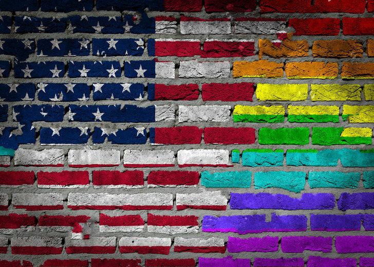 large american flag Graffiti Rainbow Flag Brick photo backdrop Vinyl cloth Computer print wall Backgrounds