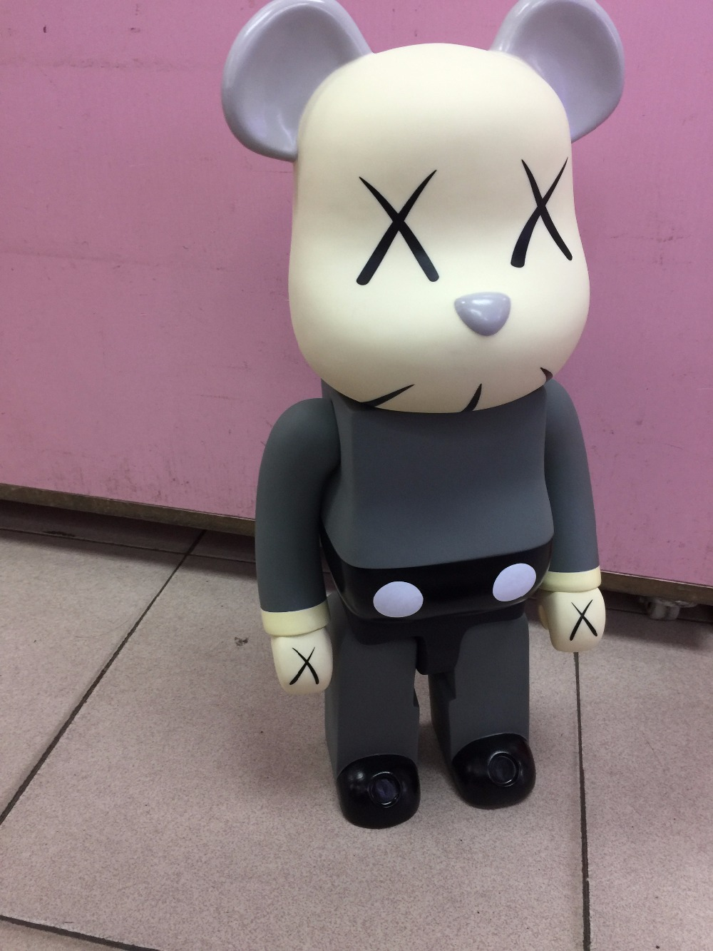 700% 52CM Kaws bearbrick bear@brick Cos Kaws Bear Doll PVC Action Figure Toy Art Work Great Gift for Friends juguetes Figures new arrival be rbrick bear bearbrick pvc action figure toy 52cm vinyl art figure as a gift for boyfriends