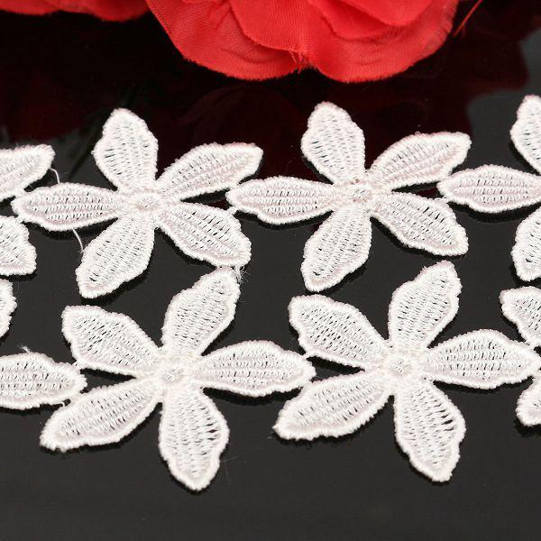 15 yardas nueva flor patrón bordado Encaje ed ge applique DIY del ...